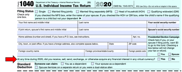 Cryptocurrency tax filings